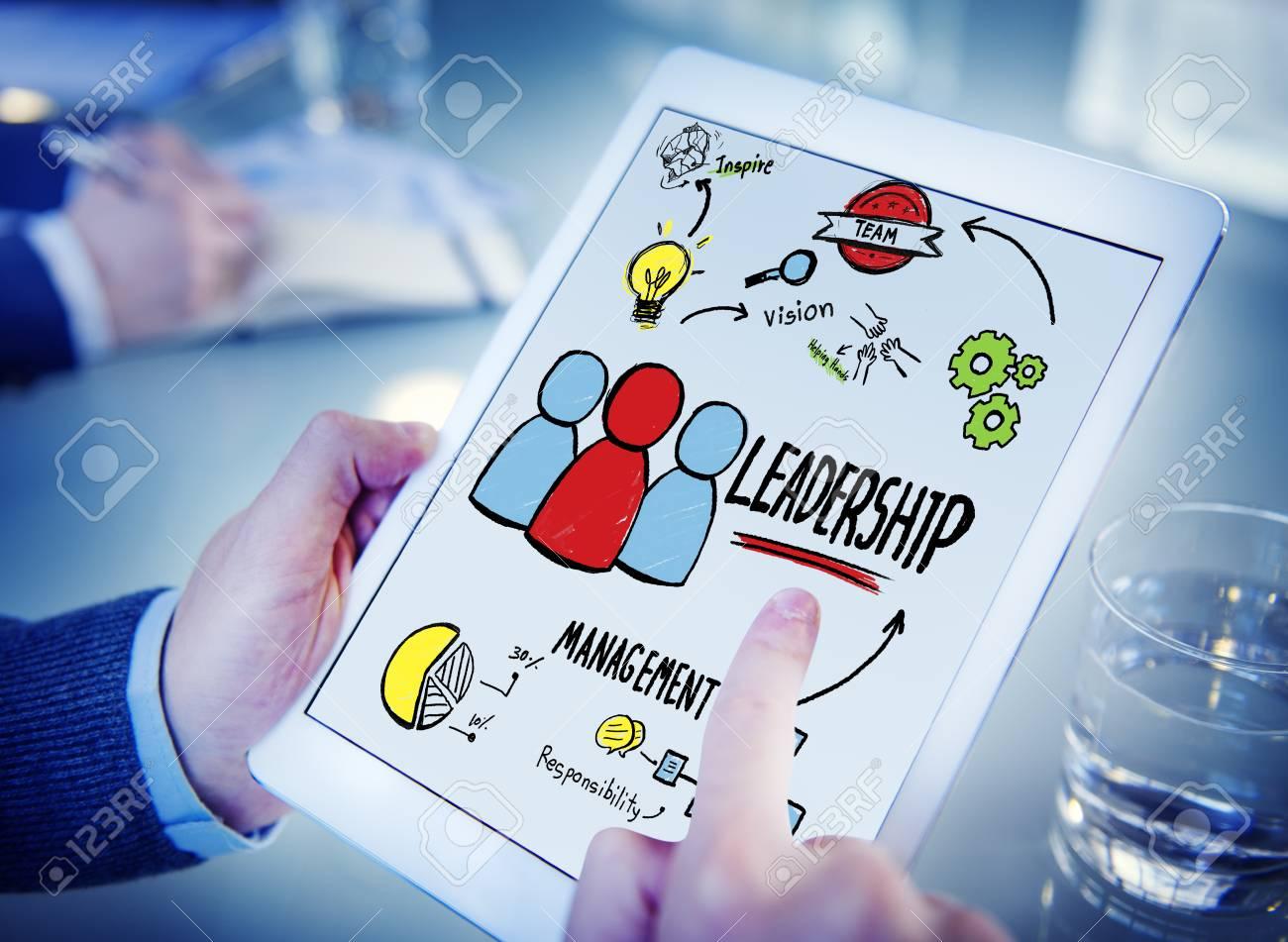 Businessman Leadership Management Digital Communication Searchin